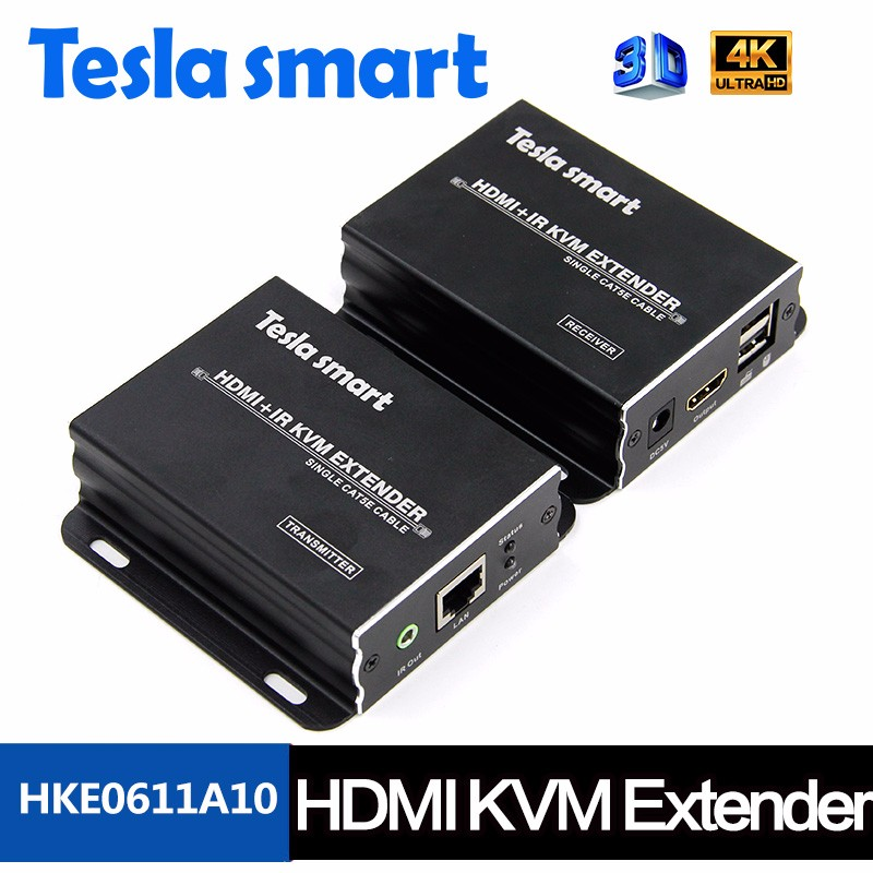 KVM HDMI Extender 120m HDMI Extender cat5e x1 With IR Remote over LAN