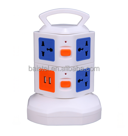 Outlet Plug Socket UK/USA/Euro Residential Power Outlet Extension