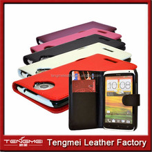 6 COLOUR PU LEATHER MOBILE PHONE WALLET FLIP CASE COVER FOR HTC