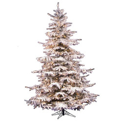 4 foot spruce needle Christmas Tree Christmas Decorating Design Ideas Using Winter White Snow Skinny Pre Lit