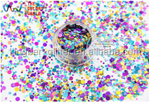 Mix Colors round shapes Glitter for nail art ,nail gel,makeup and DIY decoration