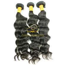 Hot Selling 1B Natural Color Deep Wave Human Hair, Brazilian Peruvian Indian 100% Raw Remy Hair Weave
