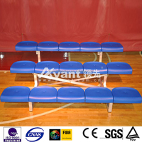 Cost-effective Ango Hot-galvanized Steel Portable Bleacher with PP seats for Swimming Pool