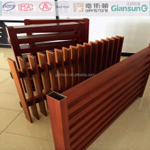 The building aluminium materials section for fence/sit on the fence aluminiumsquare tube /barrier aluminium profile material