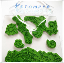 Rubber stamp for scrapbooking gift card making stamp