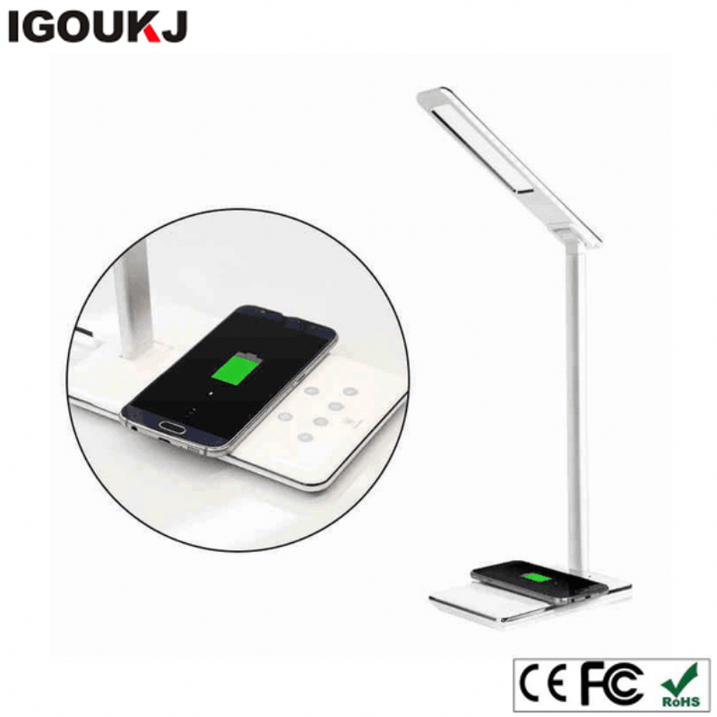 Brand new 5V universal micro usb induction lamp wireless charger led charger for iphone x 10