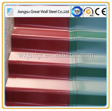 PPGI corrugated steel sheet GL roofing tile sandwich panel