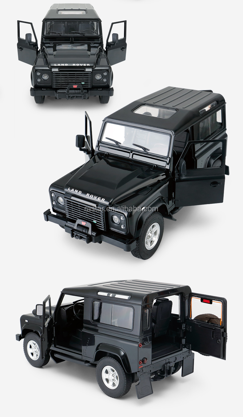 RASTAR plastic electric toy Land Rover defender rc trailer car