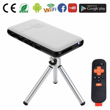 2017 powerful Android 4.4 wifi portable led mini projector mobile digital office mini projector