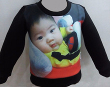 Baby sweatshirt with yourr baby photo. No minimum quntity, Amazon best seller, 1 year birthday great gift. Drop shipping welcome