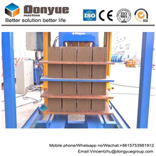 4 pieces bricks per cycle hydraulic hollow block bricket making machine/cement bricks manufacturing machine in Ghana
