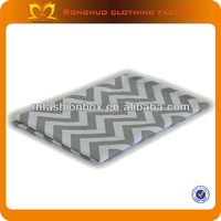 2014 hot sales! Top quality new style 100% cotton Grey chevron fabric