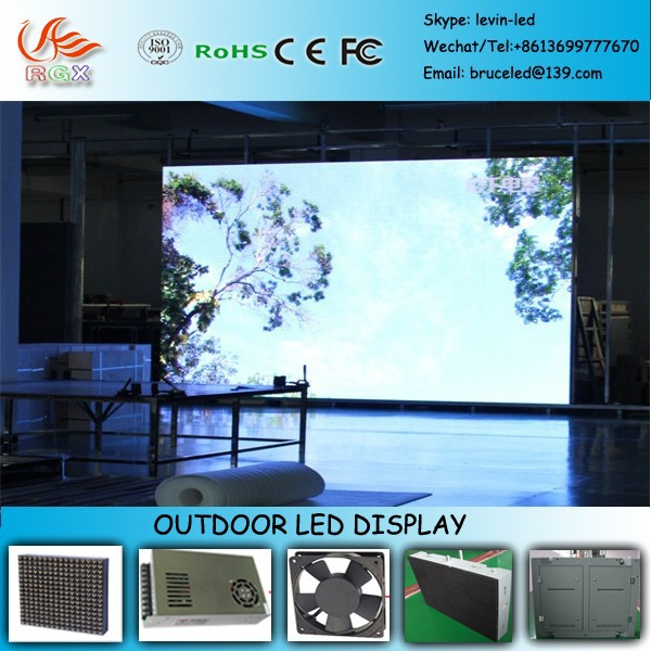 RGX M08 P20 waterproof full color xxxx image outdoor led display ph20mm screen