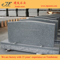 American Light G633 Gray Granite Flat Monument & Tombstone
