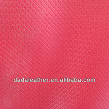 0.80 mm exquisite soft Little square embossed PU coated synthetic leather for car seat cover sofa etc