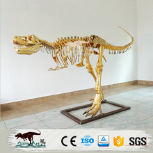 OA3394 Life Size Golden Dinosaur Skeleton