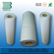 PA optically clear hot stamping melt adhesive film for textile fabric