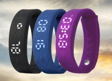 Enviroment silicone CE Rohs wristband heart rate monitor with pedometer