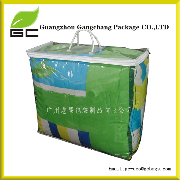 High Quality Factory Made With Zipper Quilt PVC Bag Plastic Packaging Bags