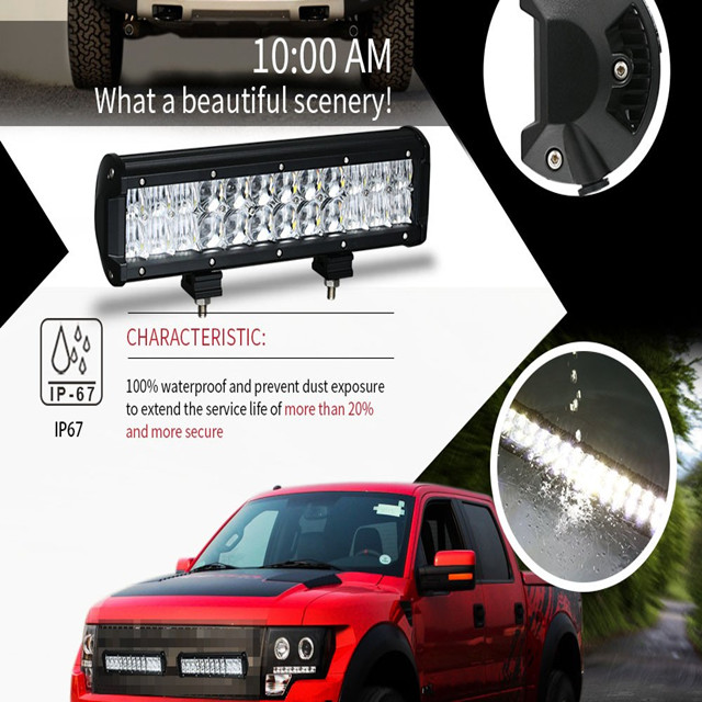 IHY Factory Direct Sales12inch 72W/120W 3D/4D/5D Curved Automobiles Accessory Off Road Light