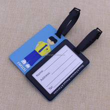 Hot sale fashion standard size pvc luggage tag for travel