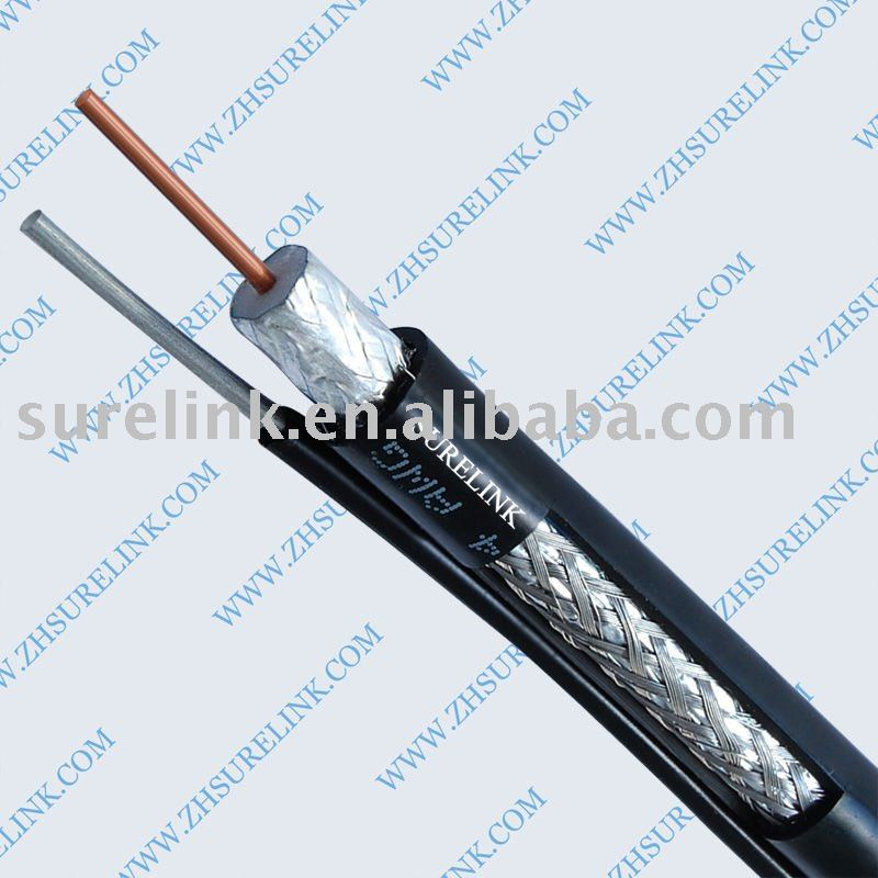 RG11 coaxial cable with messenger