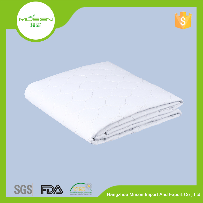 New Products White Cotton Quilted Waterproof Crib Inconvenience Mattress Pad