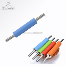 Item F3-034 Promotion Food Grade blue Color stainless steel Handle Silicone Home Kitchen Cake Rolling Pin