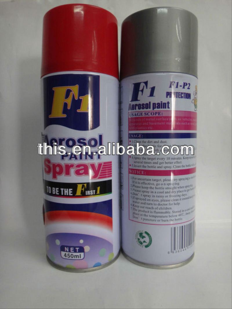 450ml ISO9001 F1 major paint brands