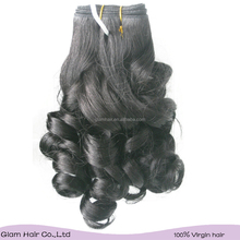 Glam Malaysian Virgin 8A Grade Steam Curly hair bundles,Grey Curly Hair For Old Women