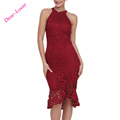 Wholesale Sleeveless Lace Fishtail Bodycon Evening Dress