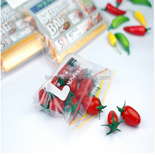 Zipper food packaging plastic storage bag