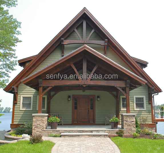 China timber frame housing with 500m2 log house luxury prefab wooden villa