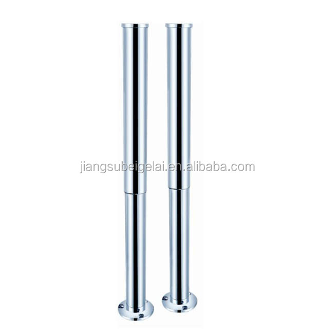 freestanding bath tub shrouds for supply line, classic pipes for tub filler