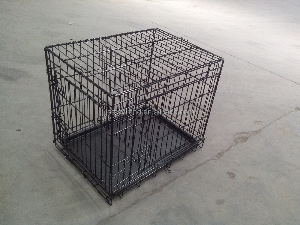 metal wire dog cage with two doors MADE IN CHINA pet crate