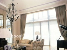 polyester motorized curtains window treatment