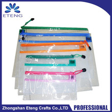 Hot custom frosting surface pvc zipper bag, clear plastic zipper pouch wholesale & promotion