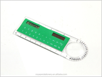 Multifunction electronic digital calculator including ruler for student