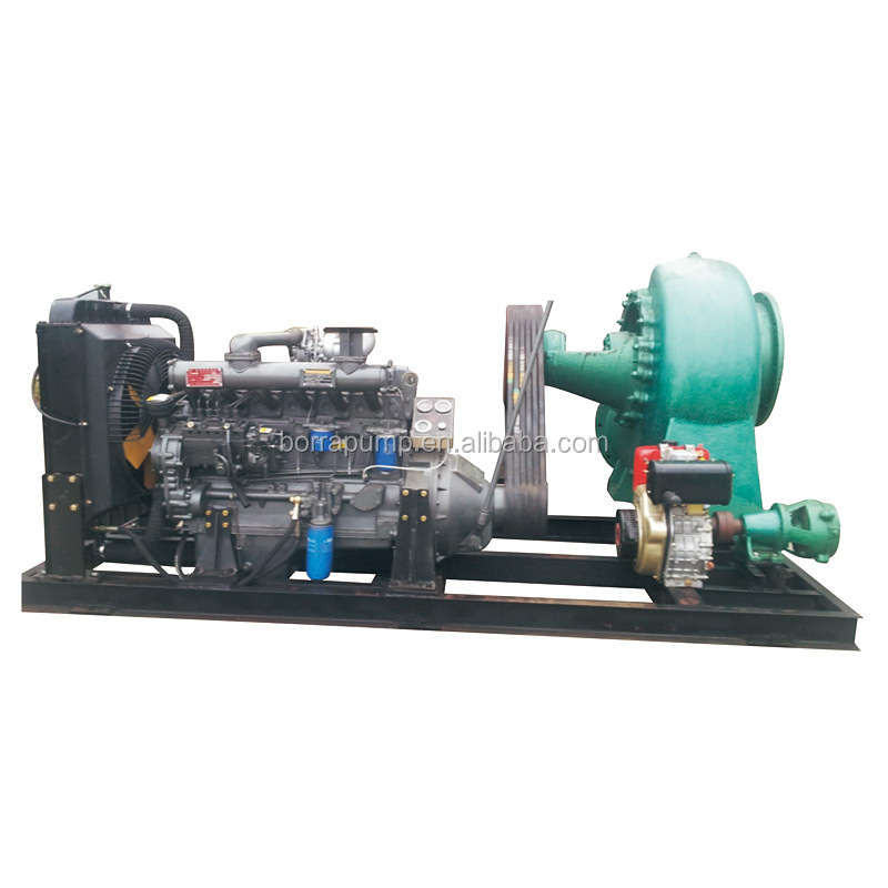 Manufacturer Long Distance Big Flow Trash Dewatering Diesel Water Pump