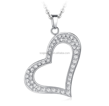 SP0824006 Wholesale Fashion Stainless Steel Women Large Heart Costume Jewelry Pendant for Wedding