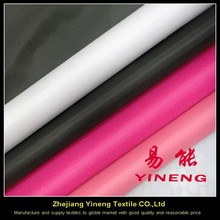 woven 190t 100% polyester taffeta lining fabric with white coating