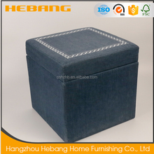 2017 new design high quality small ottoman square storage stool