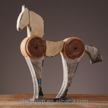 Hnad-made Carving Wood Decorative Horse in Set for Home, Hotel and Office Project