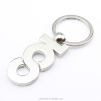 IHOMEQI letter-shaped metal keychain silver die cast metal keychain photo HQKC290458