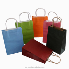 High density Best Selling pink kraft paper bag shopping