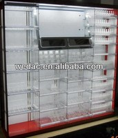Cosmetic metal display cabinets