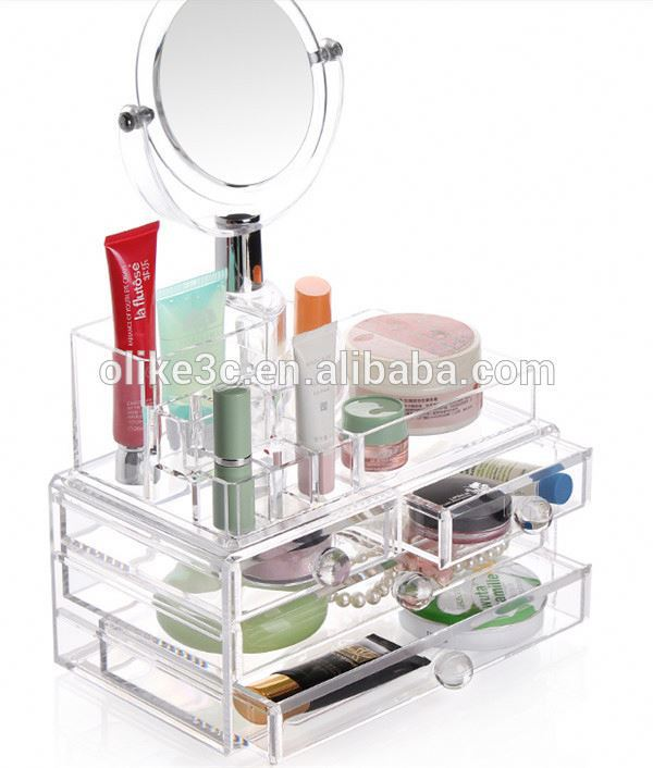 OEM perspex e-cigarette display stand clear makeup organizer