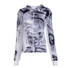 2018 Spring New Design Sublimation Sweat Mesh Patchwork Zip Up Hoodie For Women
