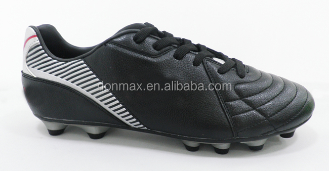 FG Groud Studs Black Outdoor Football Soccer Shoes For Men/Women/Children