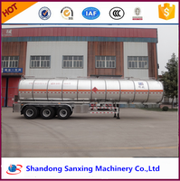 Hot Sale Fuwa Axle lpg tanker widely used 55000L lpg trailers for sale